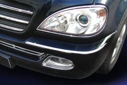 Chrome rings frontlights 2 pcs set