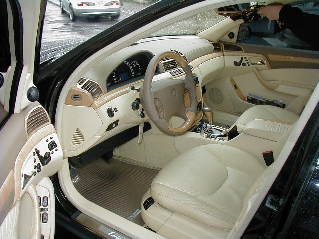 Ckm car design se w220 leather interior complete for Compleet interieur