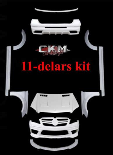 1. CKM Spoiler kit 11 delar 05-12