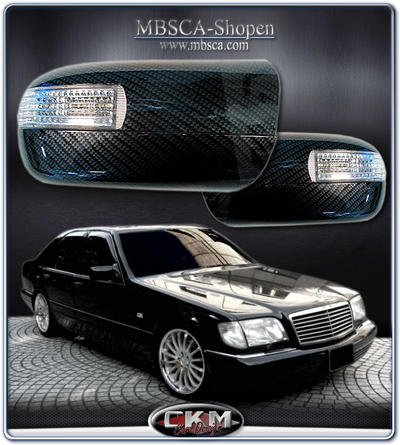 Mirrorcovers in carbon with turn signals 95-98