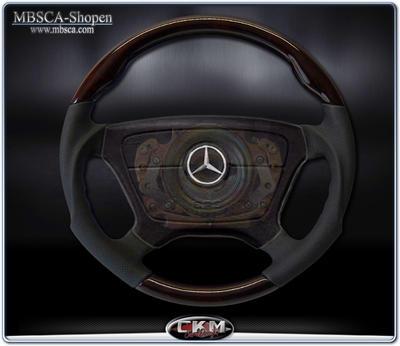 wheel  Burl Wood/black Leather Sport
