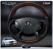 "wheel black Leather/Burl Wood ""Sport"""