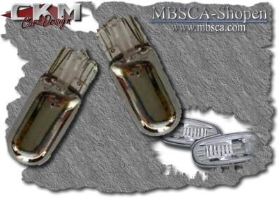Crystalglas sideblinkers in chrome 2 pcs