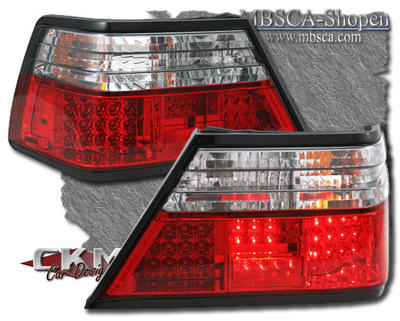 Clearglas Taillights with LEDs Red/Clear 2pcs