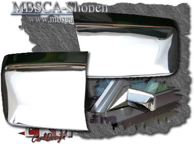Mirrorcover in Chrome 2 pcs