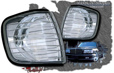 Clear blinkers front W126 2 pcs