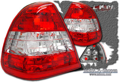 Clearglas taillights red/White without LEDs 2 pcs