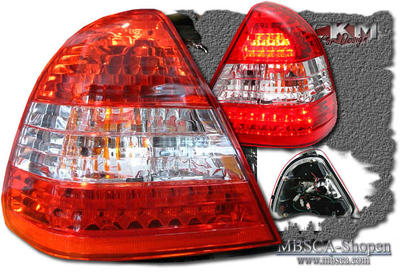 Clearglas taillights red/White with LEDs 2 pcs