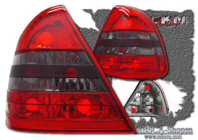 Clearglas taillights red/smoke without LEDs 2 pcs
