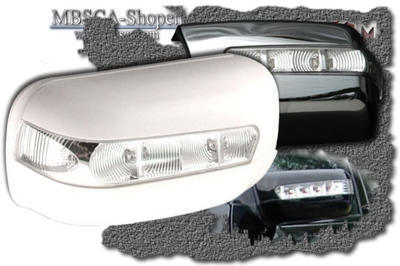 Chrome mirror cover with turn signals