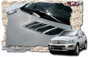 Chrome fins for bonnet