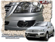 Chrome trims for fog lamps 2pcs