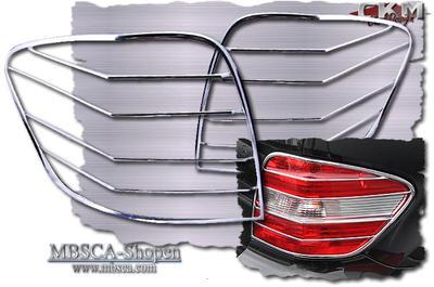 Chrome rear light frames 2pcs V2