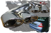 Chromed endpipes doubble 2 pcs Deluxe