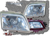 Clearglas frontglas for headlight 89-00 2 pcs