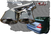 Chromed endpipes doubble 1 pcs Deluxe