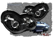 Clear FACELIFT frontlights projector C55 look 2pcs Black Halogen/Xenon