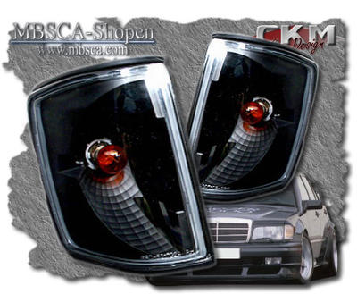 Clear turn signals front black 2 pcs