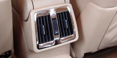 Chrome frames fan outlet in back