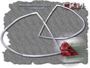 Chromerings for taillights. 2 pcs set