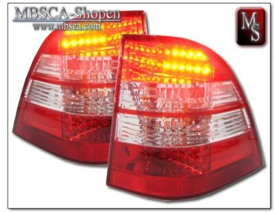 Tailights LEd 2 pcs set. Red/Clear