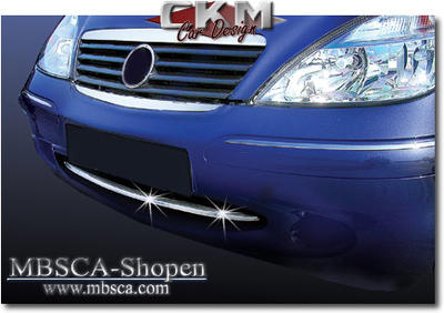 Chromelist in front bumper from 04/01