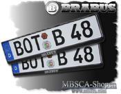 BRABUS license plate frame