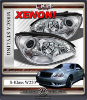 Clear glas XENON facelift frontlights 2pcs