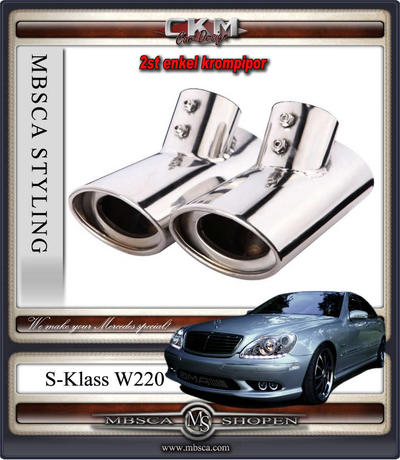 Chromed endpipes  2 pcs Deluxe