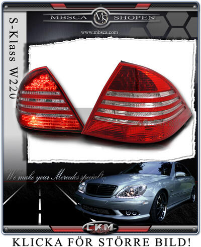 Clear glas facelift taillights 2 pcs
