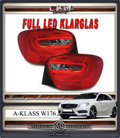 Klarglas LED baklysen 2st RED/SMOKE