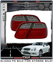 Clearglas taillights Red/smoke 2 pcs Dubbel LED