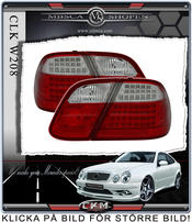 Clearglas taillights Red/Clear 2 pcs Dubbel LED