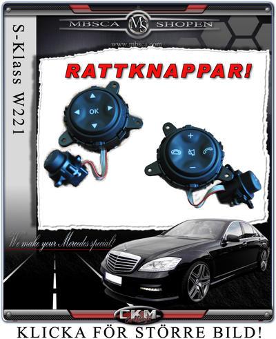 Ratt knappar Black 2 pcs