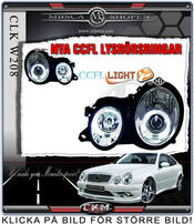 Clear glass projecktor Angel Eyes frontlights 2pcs