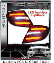 Clear taillights LED C-Style  2pcs set