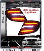 Clear taillights LED C-Style Smoke 2pcs set