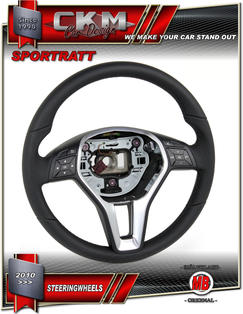 1. Steering Wheel sport OEM BLACK Leather