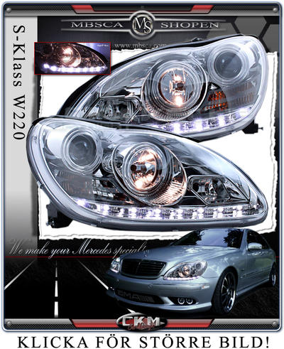 Clear glas facelift frontlights DEVIL EYES 2pcs