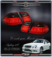 Clearglas taillights with LEDs 2 pcs Red/Smoke