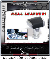 SLS Style knopp med äkta leather inlay