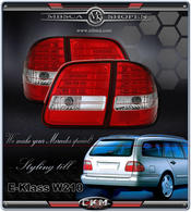 Clearglas taillights with LEDs 2 pcs for Wagon