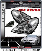 Clear frontlights DEVIL Eyes 2 pcs V2 XENON set