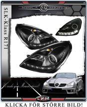 Clear frontlights DEVIL Eyes 2 pcs BLACK V2 set
