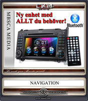 "C2. Comand enhet i ""MB LOOK"" DVD GPS Bluetooth Touch Screen mm.."