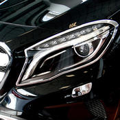 Chrome frames headlights 2pcs
