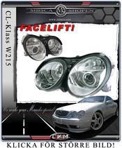 Clear glas facelift frontlights inc Xenon MB Original.