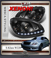Clear glas facelift XENON frontlights DEVIL EYES Black 2pcs