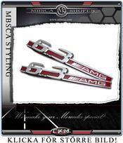 Emblem  AMG Red 6.3 Fender emblem 1pcs