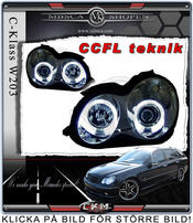 Clear frontlights projector 2pcs Angel Eyes Chrome CCFL